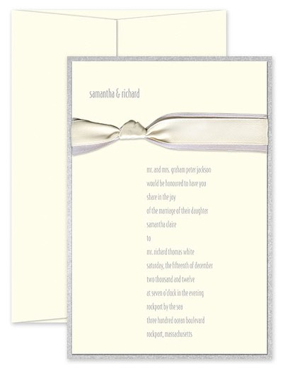 checkerboard wedding grey ribbon - Checkerboard Wedding Invitations